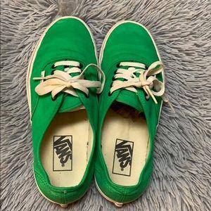 Green Vans Authentic